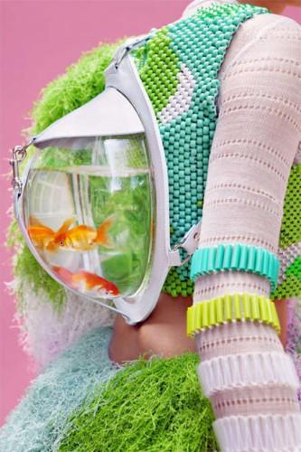 notizie animali, notizie divertenti, notizie strane, notizie commoventi, pesci rossi, boccia per pesci, acquari, borse a forma di boccia per pesci, acquari portatili