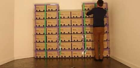 ... giocattolo una torre labirinto fatta di scatole di cartone