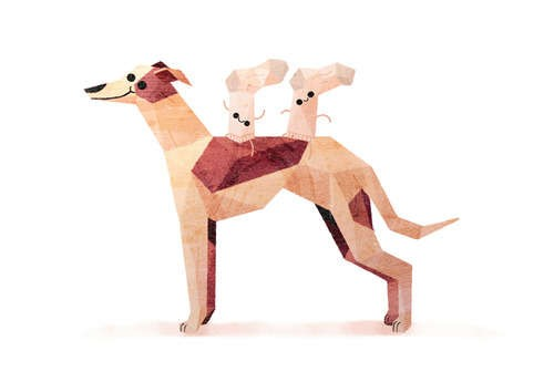 notizie animali, notizie divertenti, notizie strane, notizie commoventi, disegni di cani, illustrazioni di cani, Things on Dogs, Benjamin Flouw
